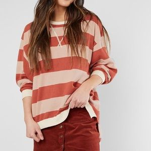NEW Free People Surfin On Your Stripes Sweater S